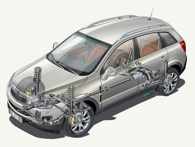 Подвески Opel Antara были