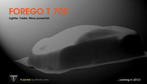 Компания Tushek построит 700-сильный суперкар массой менее тонны