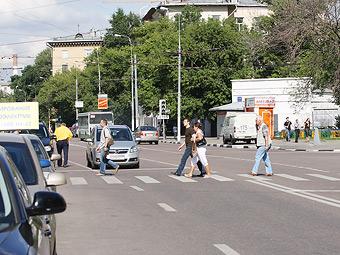 Московские гаишники пересчитали пешеходов-нарушителей