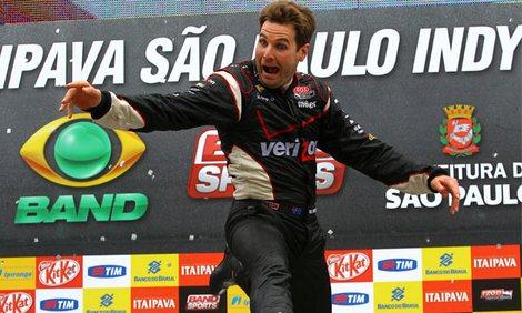 Пилот команды Penske одержал победу в Бразилии, упрочив свое преимущество в общем зачете