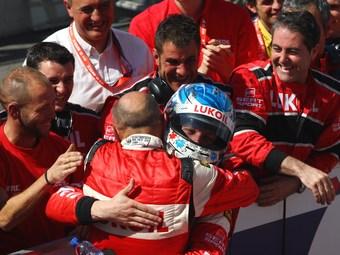 Алексей Дудукало поднялся на подиум в гонке WTCC в Словакии