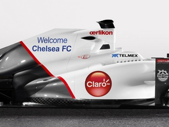 Футбольный клуб Chelsea стал партнером команды Sauber Формулы-1