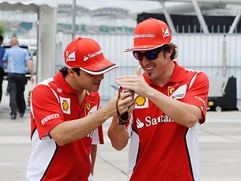 """Алонсо назвал Массу """"одним из лучших гонщиков на планете"""""""