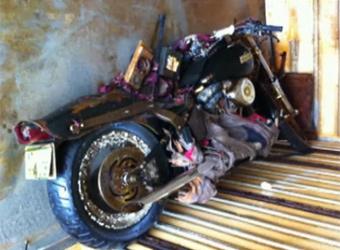 Унесенный японским цунами Harley-Davidson нашли на побережье Канады