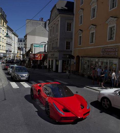 Реплику суперкара Ferrari перевели на велотягу. Фото 4