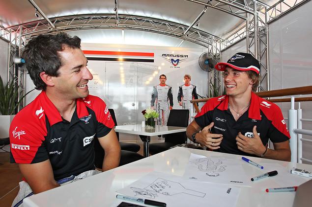 25 вопросов о России пилотам Marussia F1 Team