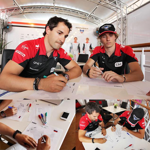 25 вопросов о России пилотам Marussia F1 Team. Фото 1