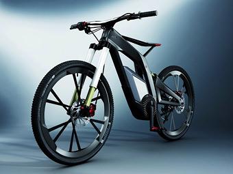 Audi разработала карбоновый велосипед с электромотором