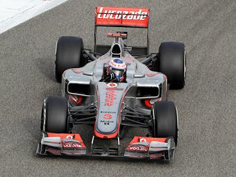 Дженсон Баттон занял первое место в свободных заездах Формулы-1