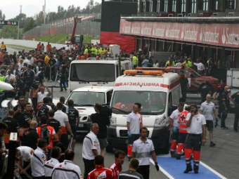 Пожар после гонки Формулы-1 в Испании потушен
