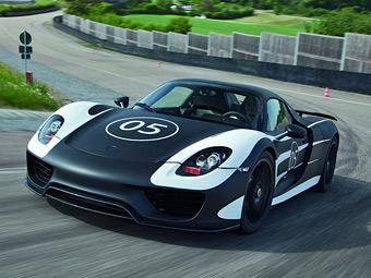 Гибридный суперкар Porsche оснастят полноуправляемым шасси