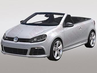 VW запатентовал дизайн открытого варианта Golf R