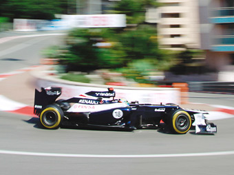 Пастор Мальдонадо потеряет десять позиций на старте Гран-при Монако