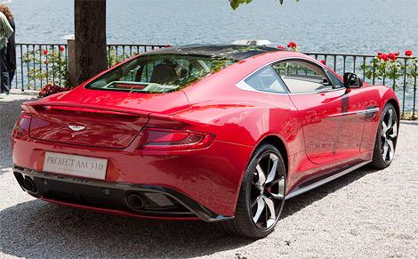 На Конкурсе элегантности Вилла д'Эсте марка Aston Martin показала концепт-кар Project AM310  будущую замену модели DBS. Фото 1