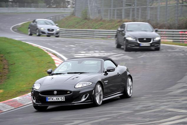 Выгуливаем Jaguar XJ Sport & Speed по Нюрбургрингу. Фото 8