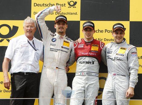Впервые в этом сезоне автомобиль Audi опередил BMW и Mercedes-Benz в гонке DTM