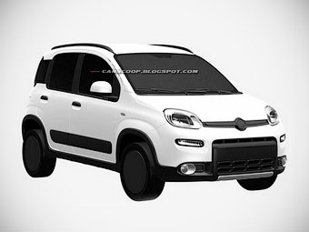 """Fiat запатентовал дизайн """"Панды"""" с полным приводом"""