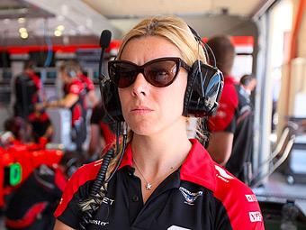 Резервная гонщица команды Marussia попала в аварию на тестах