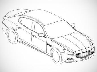 Компания Maserati запатентовала дизайн нового Quattroporte