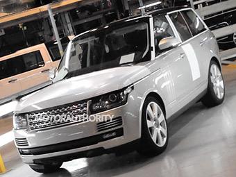 Опубликована первая фотография нового Range Rover
