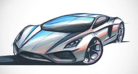 Компания Arrinera показала рисунки серийной версии своего суперкара