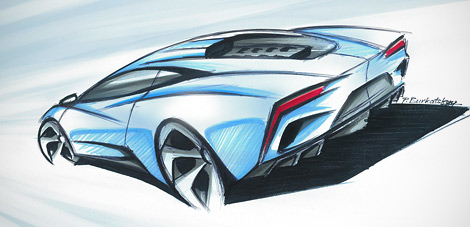 Компания Arrinera показала рисунки серийной версии своего суперкара. Фото 2