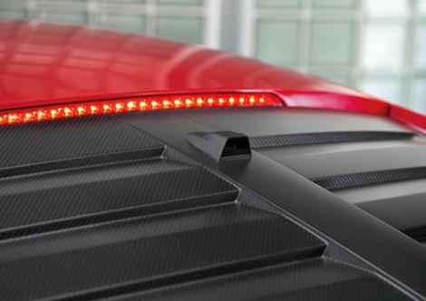 Зеркало заднего вида на купе R8 e-tron заменят 7,7-дюймовым экраном