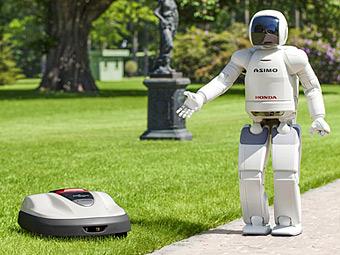 Компания Honda представила роботизированную газонокосилку