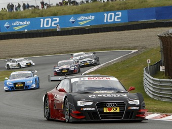 Пилоты Audi заняли три первых места на гонке DTM в Нидерландах