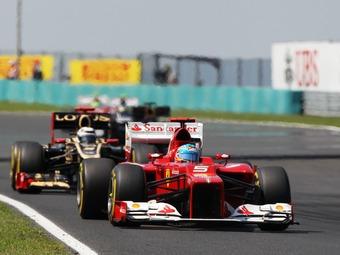 Алонсо опередил Райкконена в сухой тренировке Формулы-1