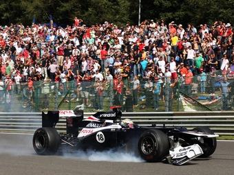 Мальдонадо вынесли два штрафа за инциденты на Гран-при Бельгии