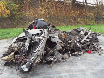 Уничтоженный Aston Martin Rapide оценили в 10 тысяч евро