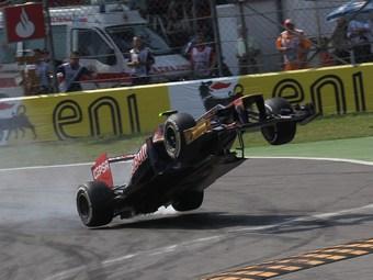 Жан-Эрик Вернь избежал травм в аварии на Гран-при Италии
