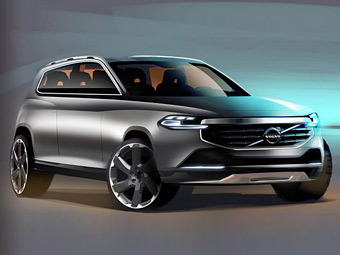 """Самым большим мотором нового Volvo XC90 станет двухлитровая """"четверка"""""""