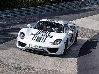 Гибридный Porsche стал самым быстрым дорожным суперкаром Нюрбургринга