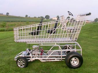 Американцы построили тележку из супермаркета с 8-цилиндровым мотором