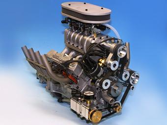 Американцы создали самый маленький в мире мотор V8 с компрессором