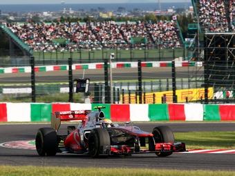 Хэмилтон показал лучшее время на тренировке Формулы-1 в Корее