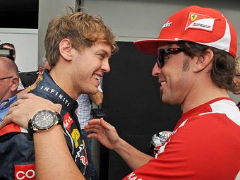 Алонсо разрешил Ferrari пригласить в команду Феттеля