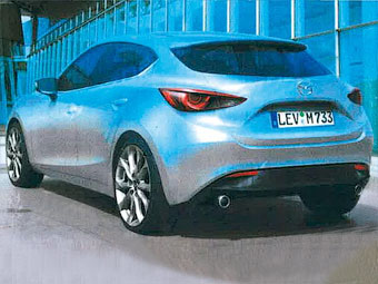 Появились первые изображения новой Mazda3