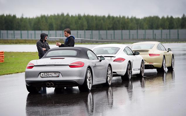 Ездим боком и меняем колеса на третьем этапе Porsche Media Academy. Фото 7