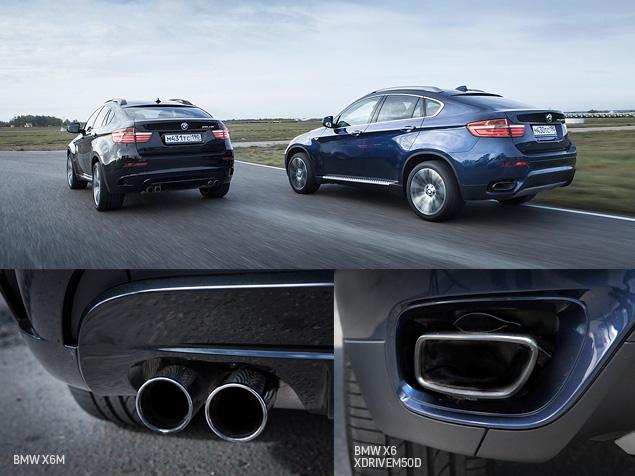 Сравниваем супервнедорожник BMW X6 M с супердизелем M50d. Фото 6