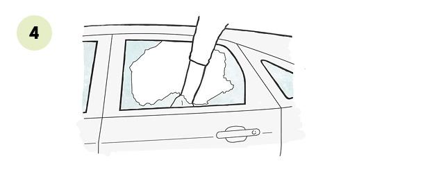 Своими руками: разбиваем стекла в своей машине. Фото 4