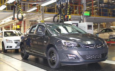 Вместе с седаном Astra на российском заводе GM выпускают четыре модели