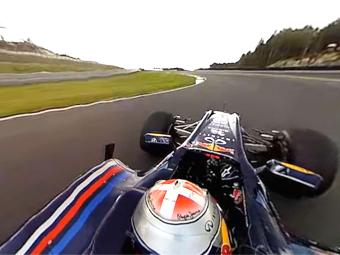 Команда Red Bull показала заезд болида Формулы-1 в 360 градусах