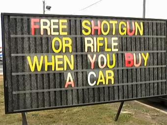 Дилер Mitsubishi в США предложил бесплатное ружье за покупку машины