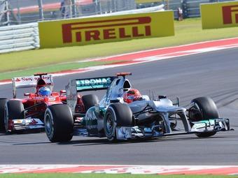 Шумахер и Уэббер избежали серьезных штрафов на Гран-при США