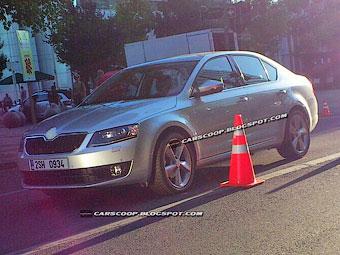 Фотошпионы рассекретили внешность новой Skoda Octavia