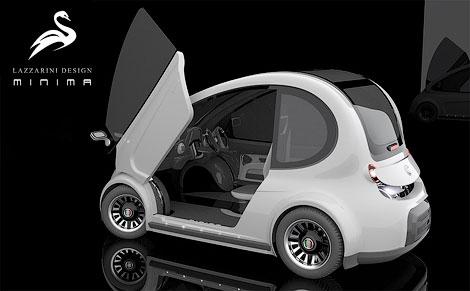 Ателье Lazzarini представило проект доступного компакт-кара Minima