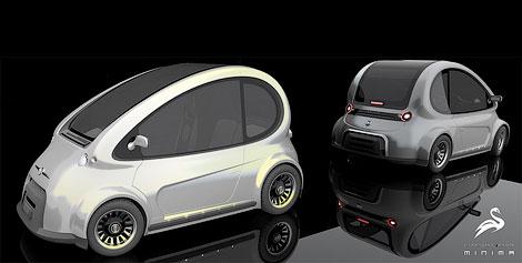 Ателье Lazzarini представило проект доступного компакт-кара Minima. Фото 1